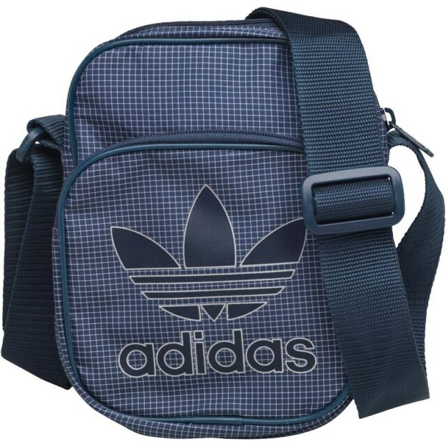 4ca287a7c0 adidas Originals Men s Trefoil Team Mini Bag Small Items Navy AX8272 ...