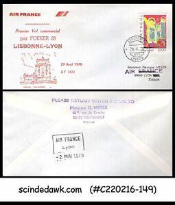 PORTUGAL-1978-AIR-FRANCE-LISBON-to-LYON-FFC