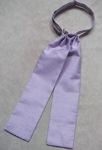 Adroit Mariage Cravate Homme Pré Attaché Réglable Formelle Juges Lilas Violet Pâle-afficher Le Titre D'origine