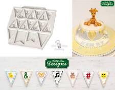 Katy Sue BUNTING FOR BOYS Silicone Sugarcraft Cake Mould Art /& Craft