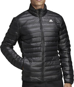 Details about adidas Varilite Mens Down Jacket Navy Blue Lightweight Wind and Water Repellent