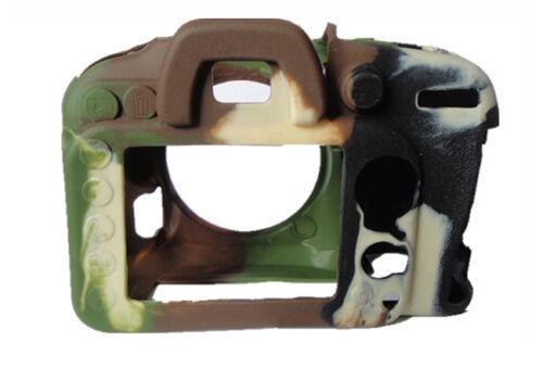 Protector De Silicona Suave Armadura Skin Funda Cubierta de la cámara para Nikon D7000 D7200 Camo
