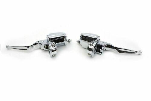 Chrome Handlebar Control Kit Hydraulic Master Cylinder 2014-2016 Harley Touring