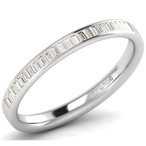 0.25 carat Baguette Cut Diamond Half Eternity Wedding Ring Available in 9K gold