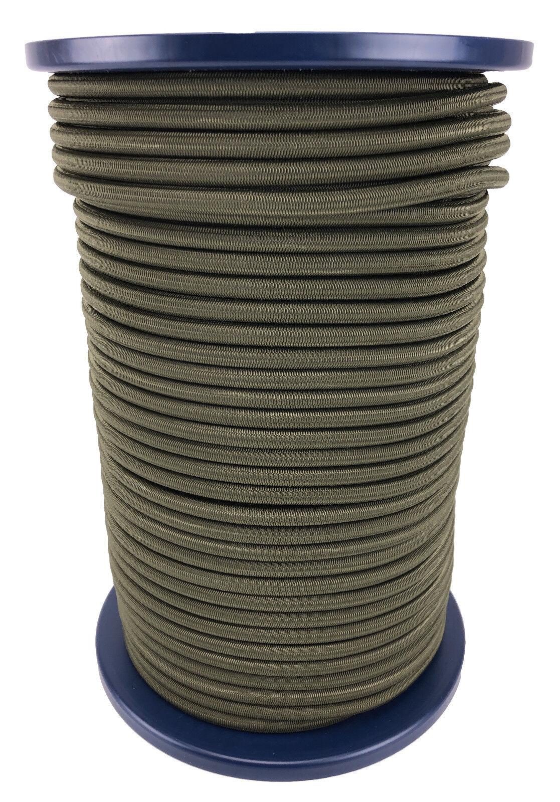 8mm Olive Elastischer Gummizug Seil X 100 Meter Krawatte Unten