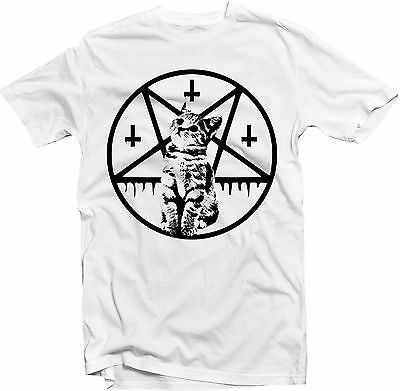 Inverted Cross and Pentacle Kitten T-shirt