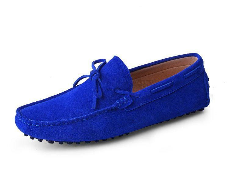 Fashion Mens casual Moccasin Loafer slip on breathable suede boats Driving shoes