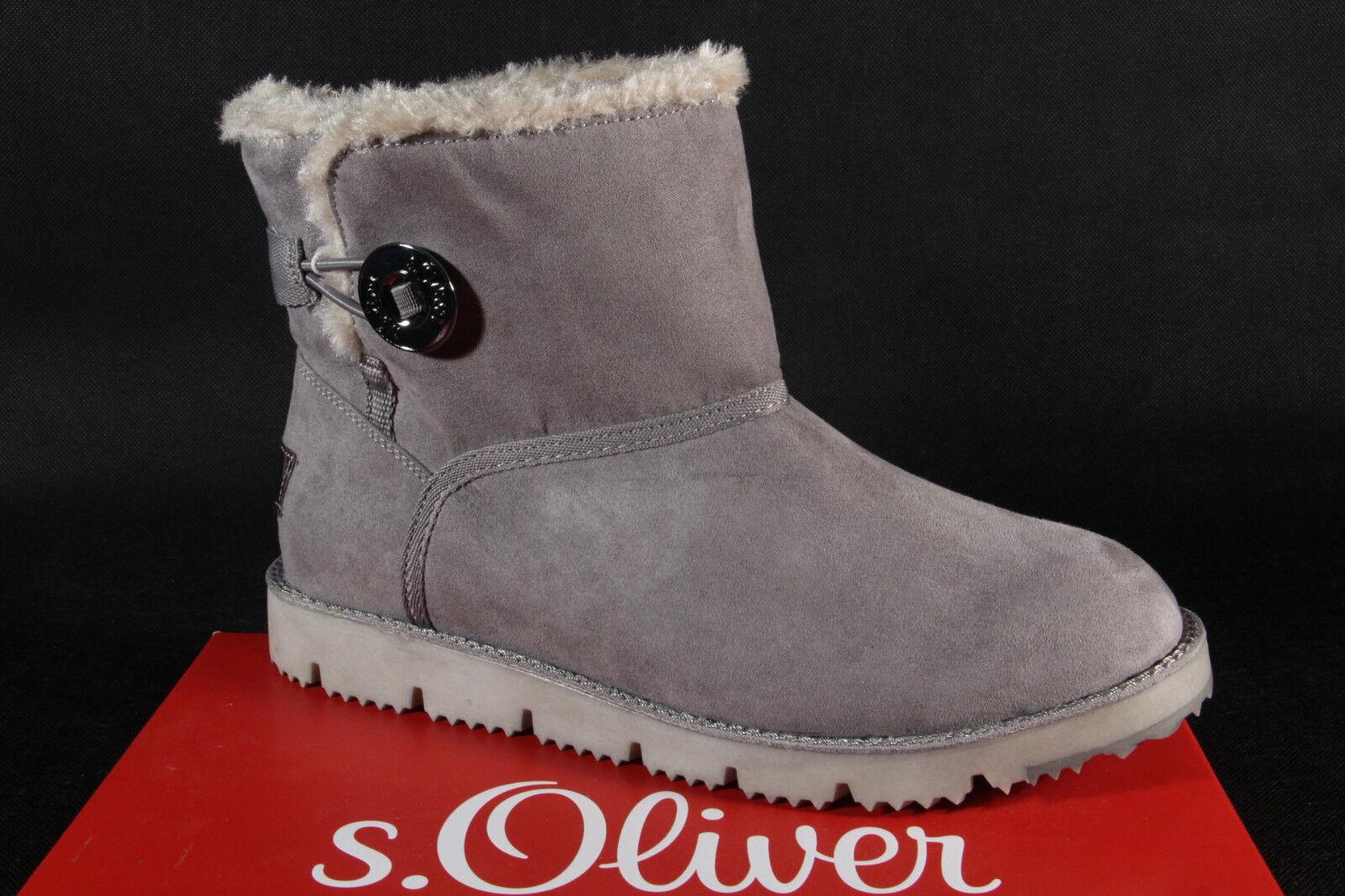 S.OLIVER Stivali Donna, Stivaletti, stivali Grigio 26412 Nuovo