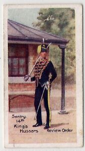 Trade-Card-Cannings-Jams-Types-Of-British-Soliders-4-Sentry-14th-Kings-Hussars