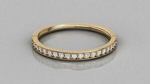 0-18Ct-Natural-Diamond-Wedding-Band-Stack-Ring-Minimalist-Ring-9kt-Solid-Gold