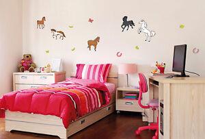 Details zu Wandtattoo Pferde Set Bibi & Tina, Wandsticker Aufkleber  Wanddeko Kinderzimmer