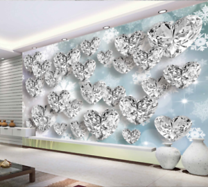 Image Is Loading 3D Diamond 49 Wallpaper Murals Wall Print