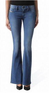 Diesel Livier Flare Womens Jeans W33 L32 Wash 0673V Slim Flare 33W 32L  NEW