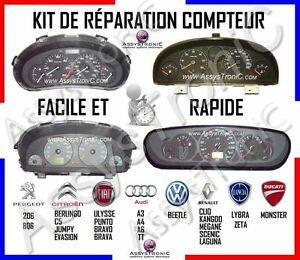 2 kits reparation compteur peugeot 206 806 citroen c5 ebay. Black Bedroom Furniture Sets. Home Design Ideas