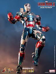 Hot Toys Iron Man 3 Movie Masterpiece MMS 195D01 1/6 Die Cast Iron Patriot MISB