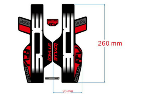 BOS IDYLLE flv Front Fork Sticker for MTB Mountain Bike Bicycle Decals