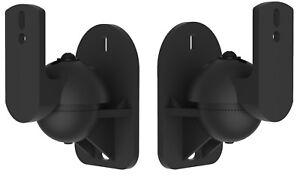 VonHaus-Black-2-Sound-Speaker-Bracket-Pack-Wall-Mount-Universal-Satellite