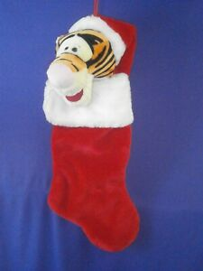 Tigger Christmas Stocking.Details About Vintage Disney Pooh S Pal Tigger Christmas Stocking By Santa S Best 18in C1990s