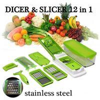 12 Pcs Nicer Dicer Plus Vegetable Fruit Multi Peeler Cutter Kitchen Cooking Tool