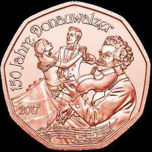 Piece-5-euros-commemorative-Autriche-2017-Valse-du-nouvel-An-Cuivre