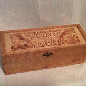 Jose Cuervo Tequila Reserva De La Familia Wood Box Joel Rendon grabado