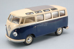 VW-VOLKSWAGEN-BUS-1-24-Scale-Diecast-Toy-Car-Model-Die-Cast-Models-Camper-Blue