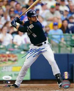 BREWERS-Ryan-Braun-signed-8x10-photo-JSA-COA-Autographed-AUTO-MVP-Milwaukee