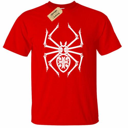 Mens Spider T Shirt tribal goth rock punk Lolth arachnid tarantula