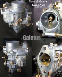 Brillant Renault Floride S Caravelle Carburateur 34 Pbic - Solex Type - Neuf 100% D'Origine