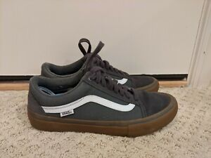 Vans-Old-Skool-Pro-Gray-Gum-Men-039-s-Size-8-5-White-Grey-Nice-Rare-HTF-Colorway