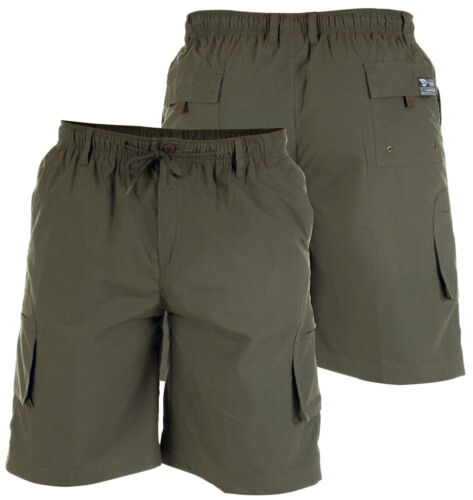 D555 Duke Da Uomo Cargo Pantaloncini Vita Elasticizzata tasche 4 colori-XXL (204262)