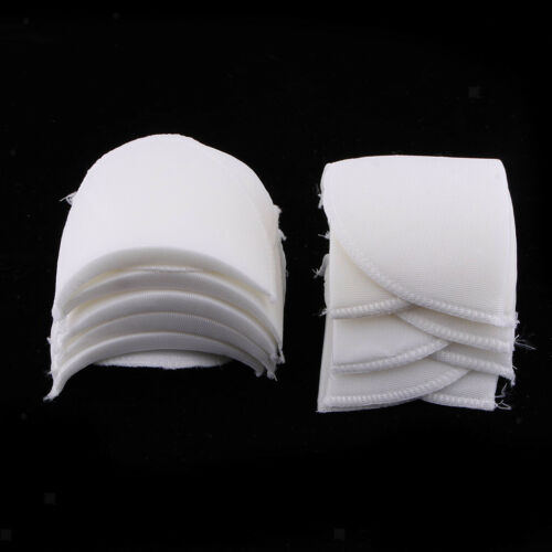 6 Pairs Sponge Shoulder Pads Insert for Coat Suit Sewing Crafts White