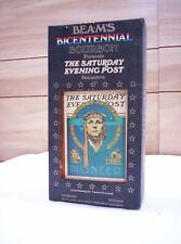 VINTAGE 1976 JIM BEAM BOTTLE BICENTENNIAL SATURDAY EVENING POST NORMAN ROCKWELL