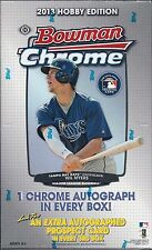 2013 BOWMAN CHROME BASEBALL FACTORY SEALED HOBBY BOX