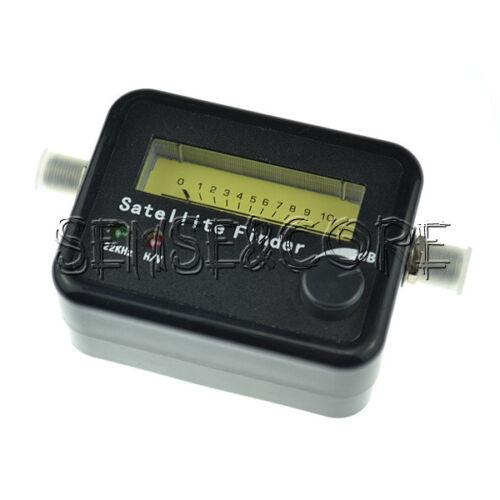 Digital Satellite Signal Dish FTA HD Monitors Signal Strength Meter Finder Cable