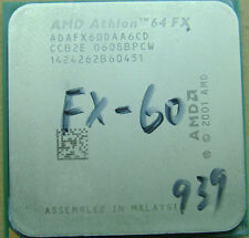 AMD Athlon 64 FX-60 ADAFX60DAA6CD 2.6GHz 939pin 2-Core 110W CPU Processor Tested