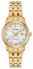 Citizen Eco-Drive Women's Diamond Markers Gold-Tone 29mm Watch EW2392-54A