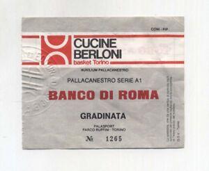 Dettagli su Biglietto Ticket CUCINE BERLONI BASKET TORINO BANCO DI ROMA  Pallacanestro