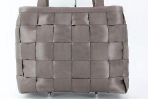 Top tejido mano medio marrón mano claro Bolso tejido bolso de Zip E129 de q8gxOWRw