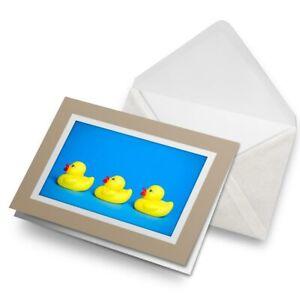 Greetings-Card-Biege-Bath-Toy-Yellow-Duckling-Duck-Kids-16798
