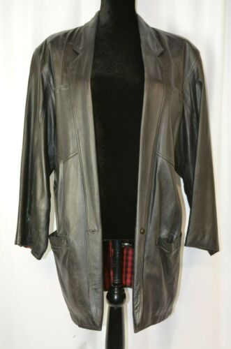 Complice Women's Single Button Leather Jacket Size