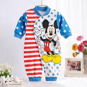 Cotton Newborn Baby Rompers Disney Cartoon Mickey Mouse