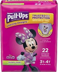 Huggies Pull Ups Pantalones De Entrenamiento Panales Desechables Minnie Mouse 3t 4t Paquete De 22 Ebay