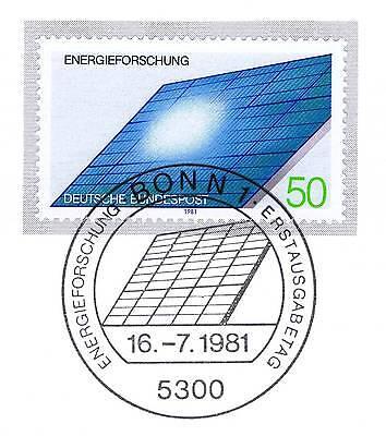 2019 Neuestes Design Brd 1981: Energieforschung Nr. 1101 Mit Bonner Ersttags-sonderstempel! 1a! 154 Profitieren Sie Klein