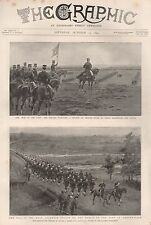 1894 WAR IN THE EAST, MIKADO REVIEWING TROOPS, TROOPS ON THE MARCH JAPAN