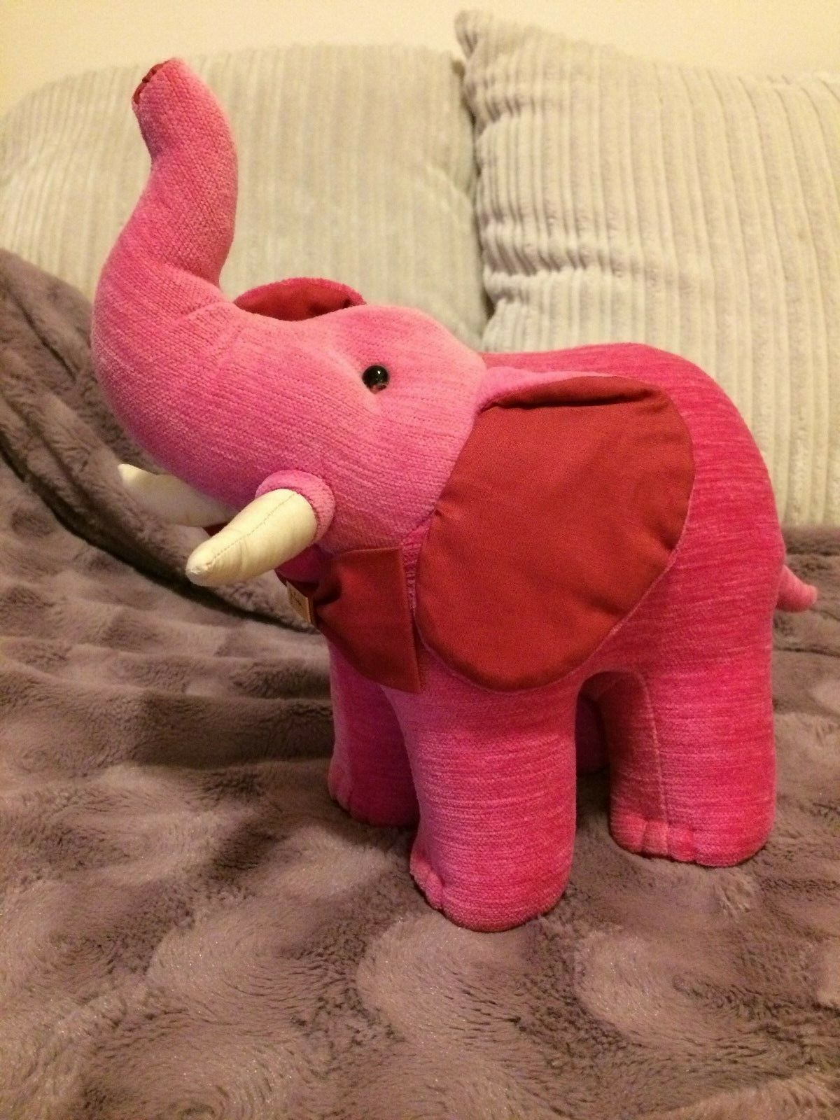 JIM THOMPSON PINK ELEPHANT  SOFT TOY