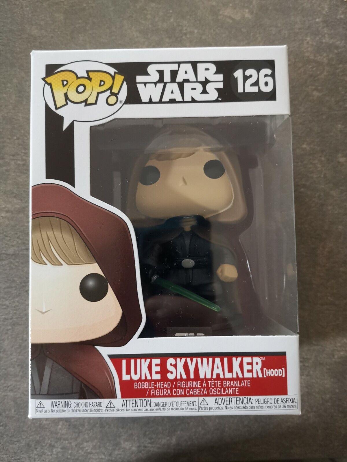 Funko Pop  Luke Skywalker (Hood)  126 -Star Wars New Neu - Vinyl Figure