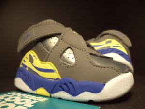 3642ab7c990c0a Baby Nike Air Jordan VIII 8 Retro TD COOL GREY PURPLE BLUE WHITE ...