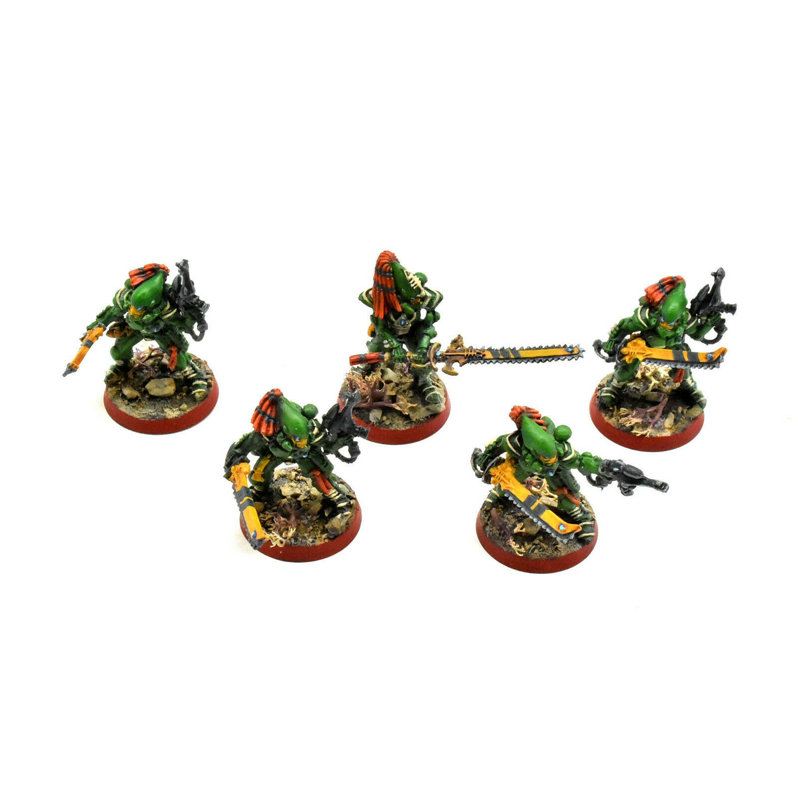 CRAFTWORLDS 5 striking scorpions  1 WELL PAINTED Warhammer  40K Eldar FINECAST  le plus récent