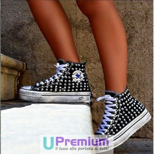 Converse All Studded Star Platform Black High Studded All [Product Customized] Shoes 3df977